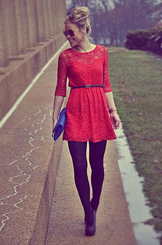 Lady in Red…Lace